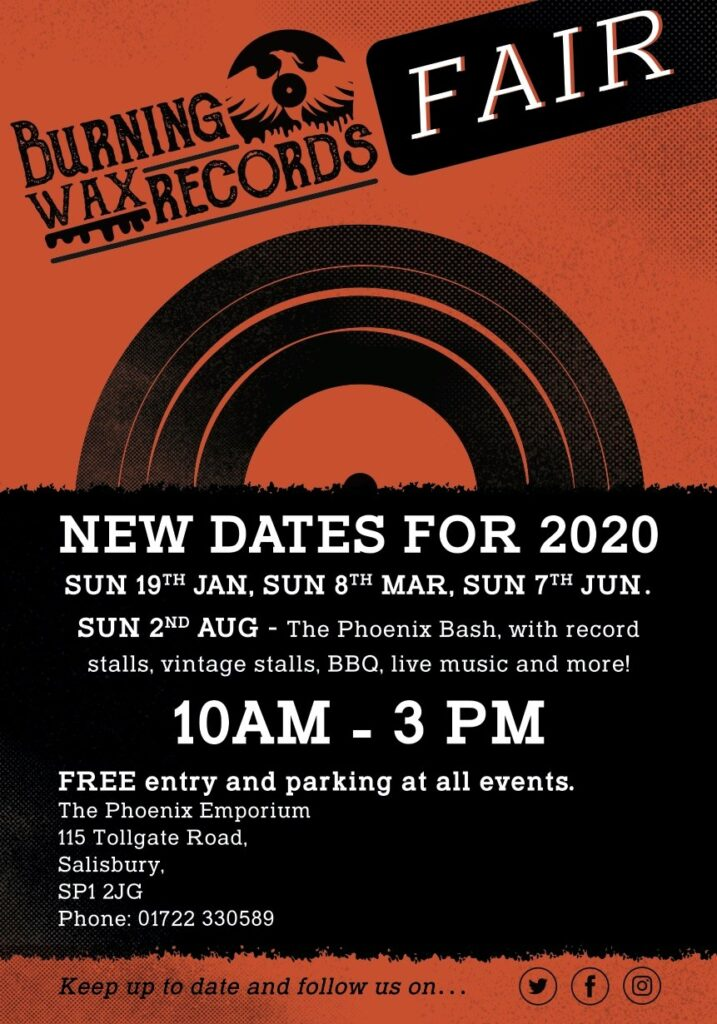 Burning Wax Records Event Poster